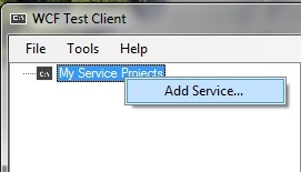 Right Click --> Add Service